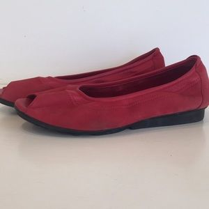 ARCHE Red slip on shoes. Made in France.